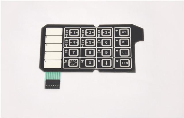 PC防水薄膜开关-薄膜式按键-薄膜数字按键面贴